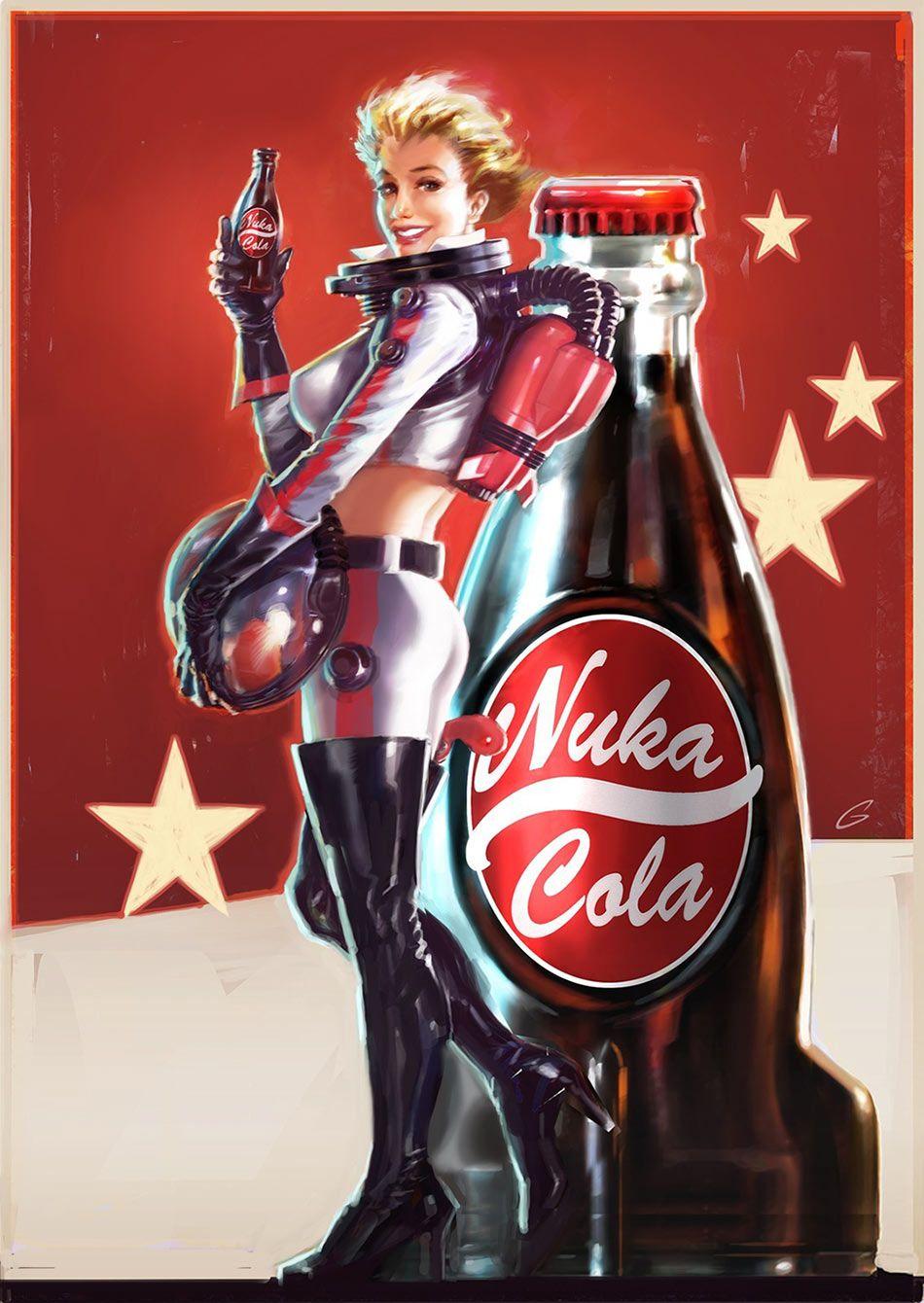 nuka cola pin up character design pinterest fallout fallout