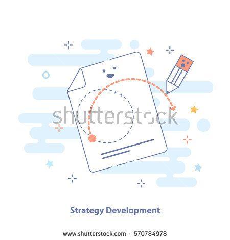 strategy development outline infographic illustration symbol of