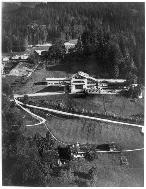 Ariel-view of Der Führer's magnificent residence, the Berghof.