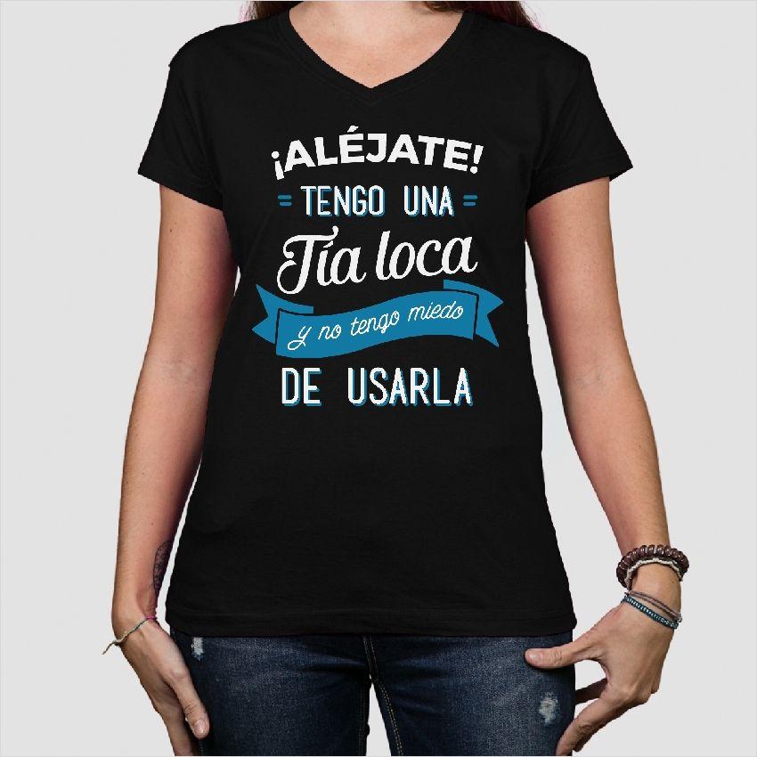 Camisetas Camiseta divertida Tía loca | Pinterest | Silhouettes