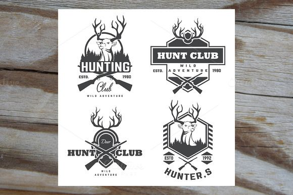 Set of vintage hunting by ART69M on @creativemarket