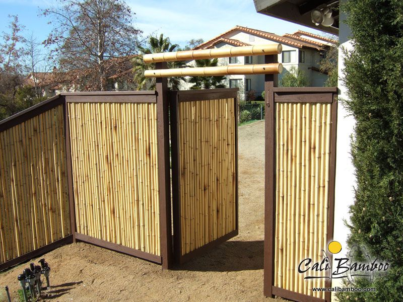 6ft X 8ft Natural 2 Inch Diameter Cali Bamboo Bamboo Bamboo Fence Wood Fence