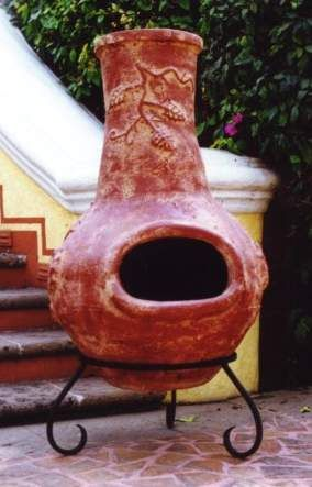 Captivating Mexican Outdoor Clay Chimineas / Fireplaces.