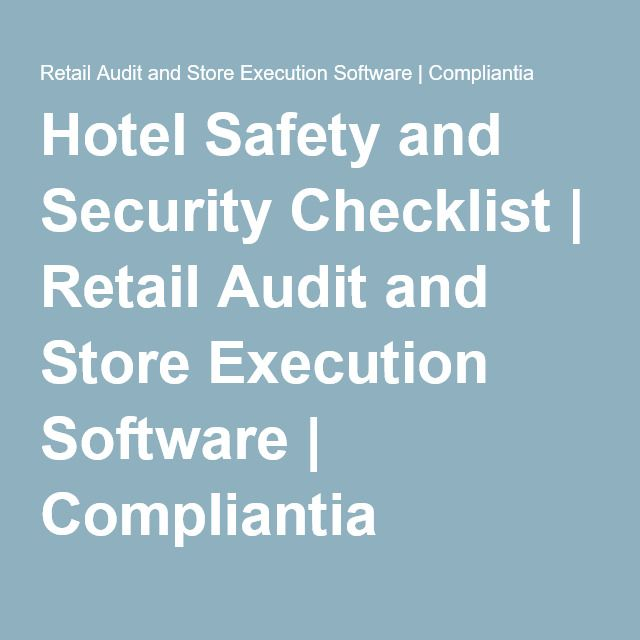Hotel Safety And Security Checklist  Retail Audit And Store