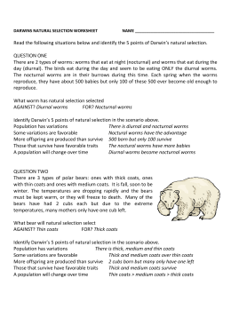 Darwin's Natural Selection Worksheet Answers | School | Pinterest ...