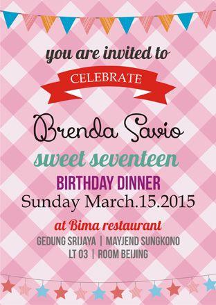 Undangan Ulang Tahun Unik Undangan Sweet Seventeen Undangan