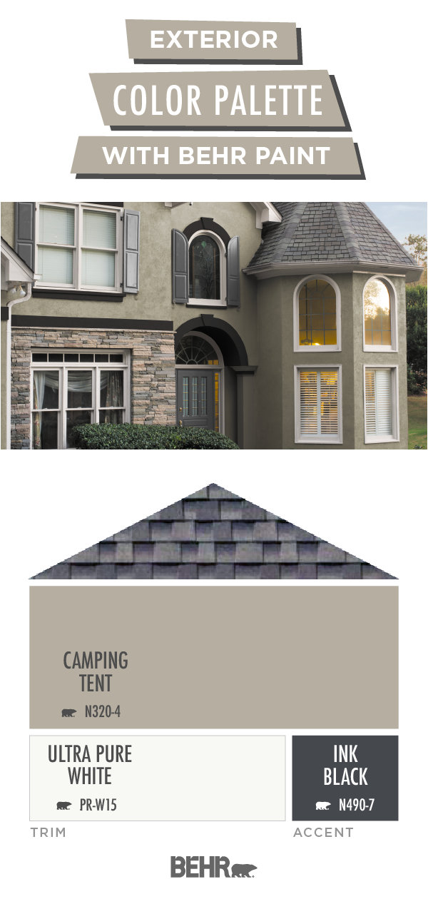 The Inside Of Your Home Isn T The Only Thing You Should Tackle This Spring C Exterior Color Palette Exterior House Paint Color Combinations Behr Exterior Paint