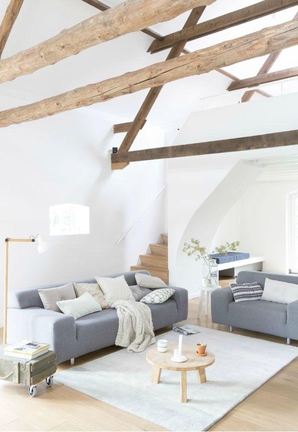 Innenarchitektur Bauernhaus Wohnzimmer Innen Sets Zuhause Dachgeschoss Weisse Zimmer Wnde