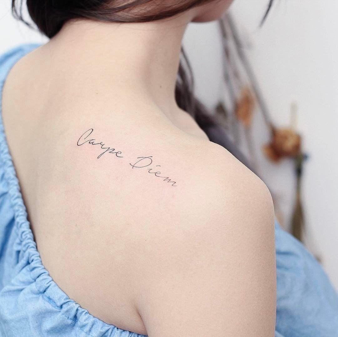 Carpe Diem 及時行樂 Artist Hktattoowing Tattoo Ideas