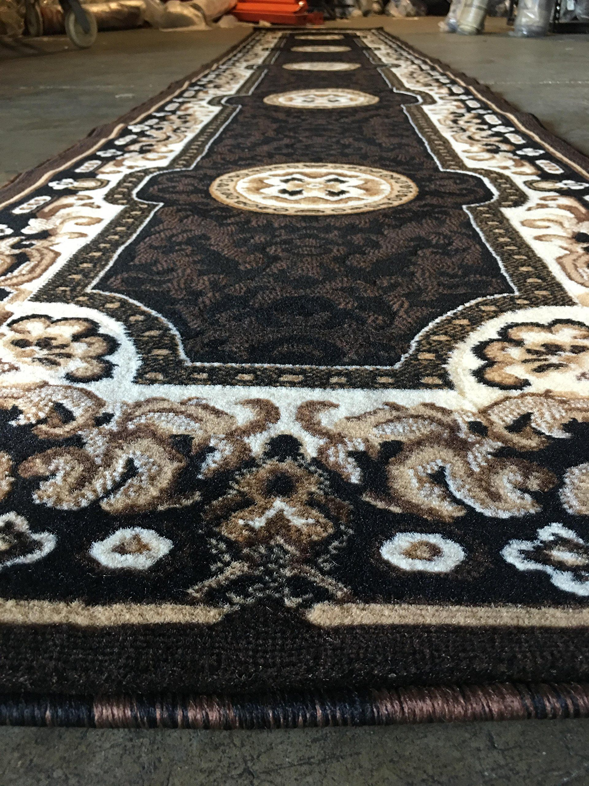 Traditional Long Runner Area Rug Kingdom Black Design D123 2 Feet 4 Inch X 10 Feet 11 Inch Read More At The Image Link This Black Design Rugs Area Rugs