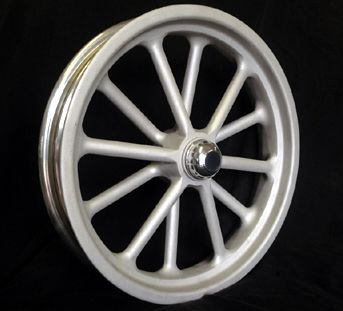 Custom Wheels 12 Spoke Spindle Mount Wheels Tri Ribb Custom Wheels Custom Wheels Wheel Truck Wheels