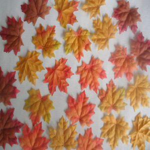 100 1000pcs Fall Silk Leaves Wedding Favor Autumn Maple Leaf Decorations | eBay