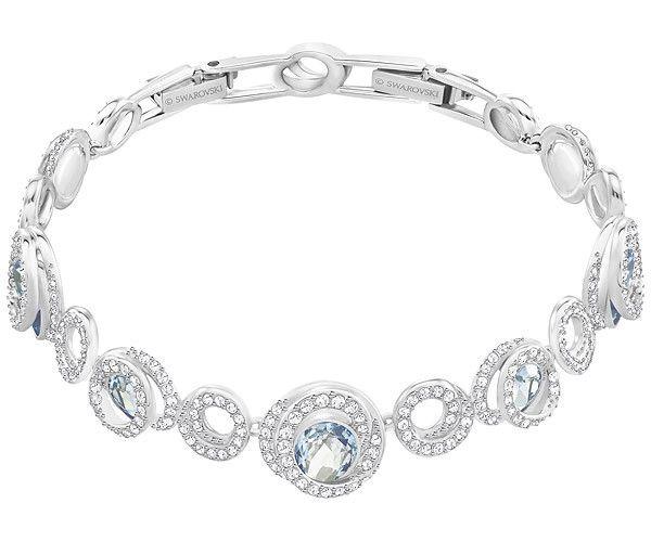 Bracelet Generation Bleu Canard Metal Rhodie Jewelry Swarovski Bracelet Swarovski Jewelry