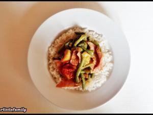❤ Riz, tomate, gingembre, ail, courgette, haricot et jambon ❤ • Hellocoton.fr