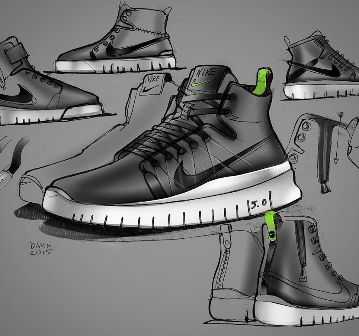 Pin Hari Wibowo Footwear Design Sneakers Sketch Shoe Sketches Sneaker Art