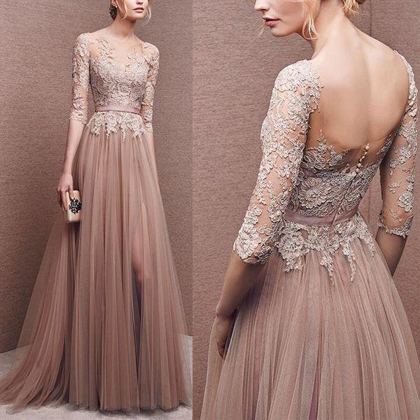 Elegant Prom Dress Long Prom Dress Lace Prom Dress Long
