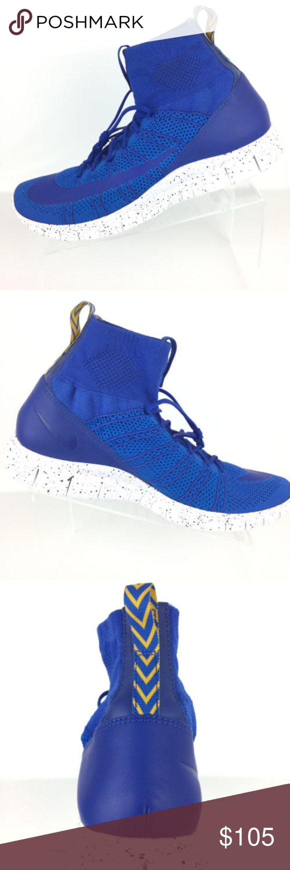 the best attitude 4e504 1c0b7 Nike Free Flyknit Mercurial Superfly Shoes Nike Free Flyknit Mercurial  Superfly Shoes Men s size 11.5 Medium width Game Royal Blue Upper with  white speckled ...