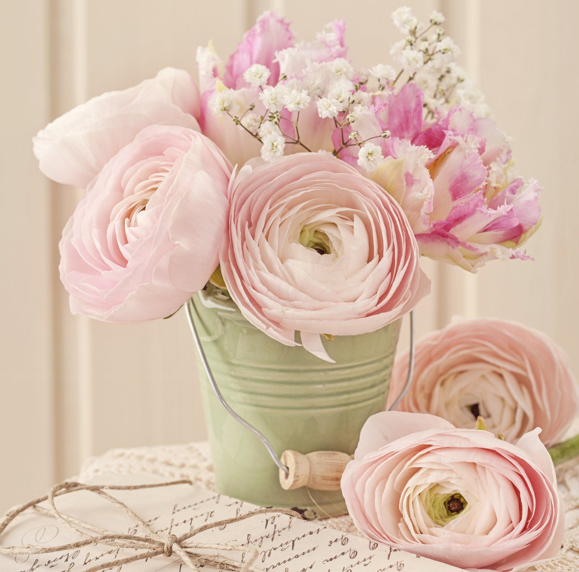 vintage style roses pink flower bouquet HD wallpaper