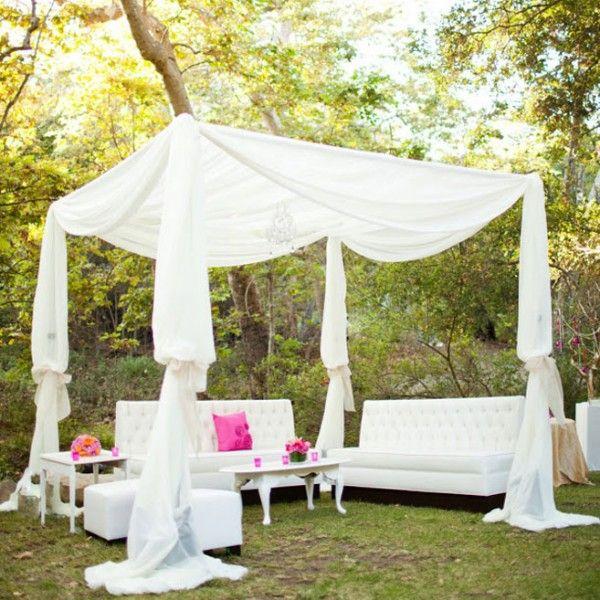 28 Outdoor Wedding Decoration Ideas & 28 Outdoor Wedding Decoration Ideas | White fabrics Wedding ...