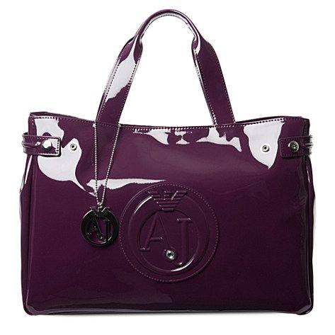 05d384ead0bd ARMANI JEANS Patent shopper bag