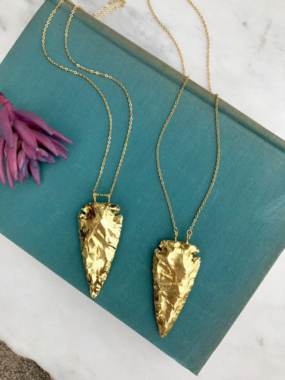 Gold arrowhead necklace 24k gold dipped arrowhead necklace boho gold arrowhead necklace 24k gold dipped arrowhead necklace boho arrow head pendant bohemian arrowhead pendant 14k filled layering necklace pinterest aloadofball Image collections