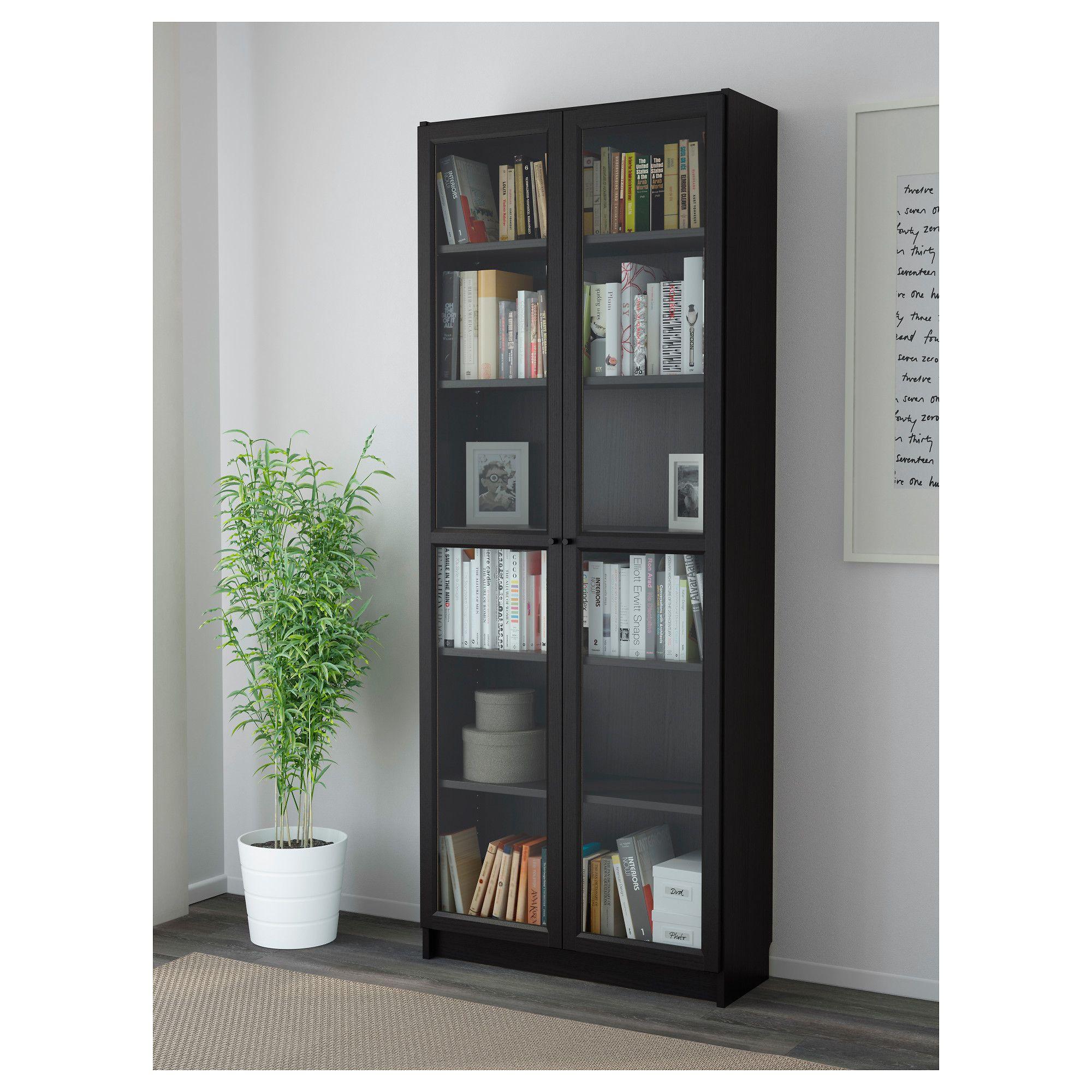 Ikea Billy Oxberg Bookcase Black Brown In 2019