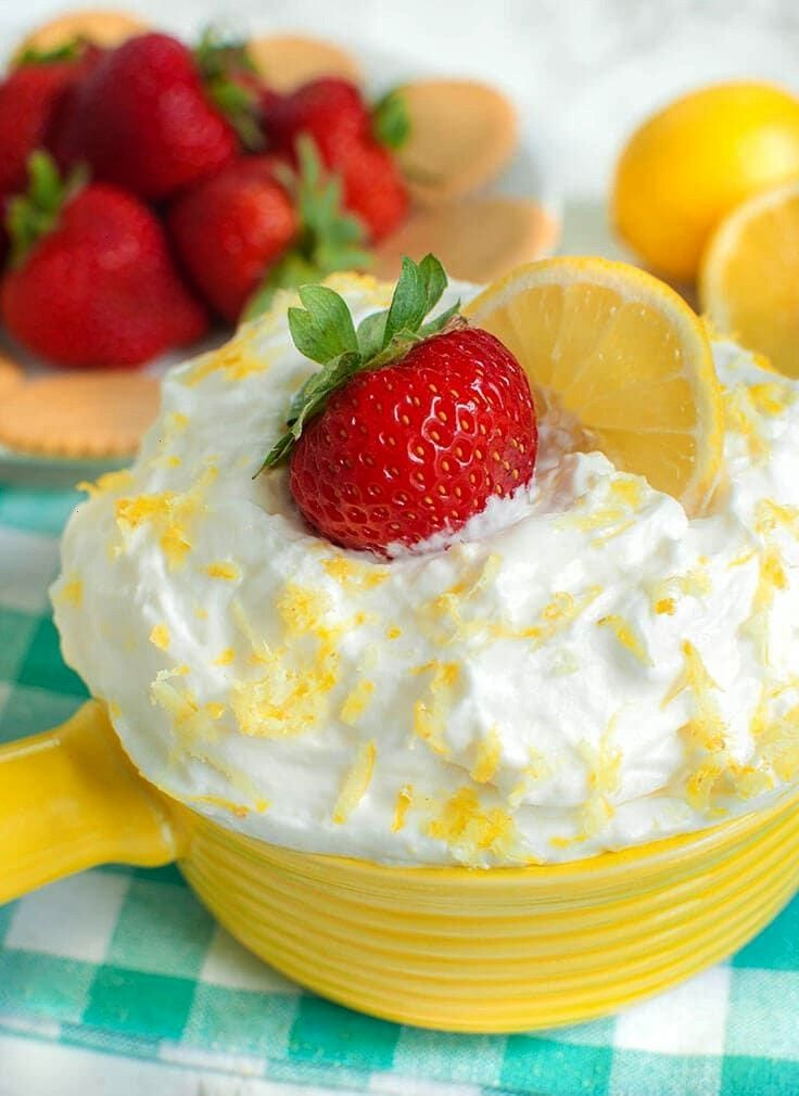 lemon dessert or fruit dip! This cream cheese lemon fruit dip is a perfect mix of sweet and tangy.