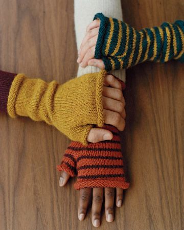 Fingerless Mittens | Fingerlose Handschuhe, Martha Stewart und ...