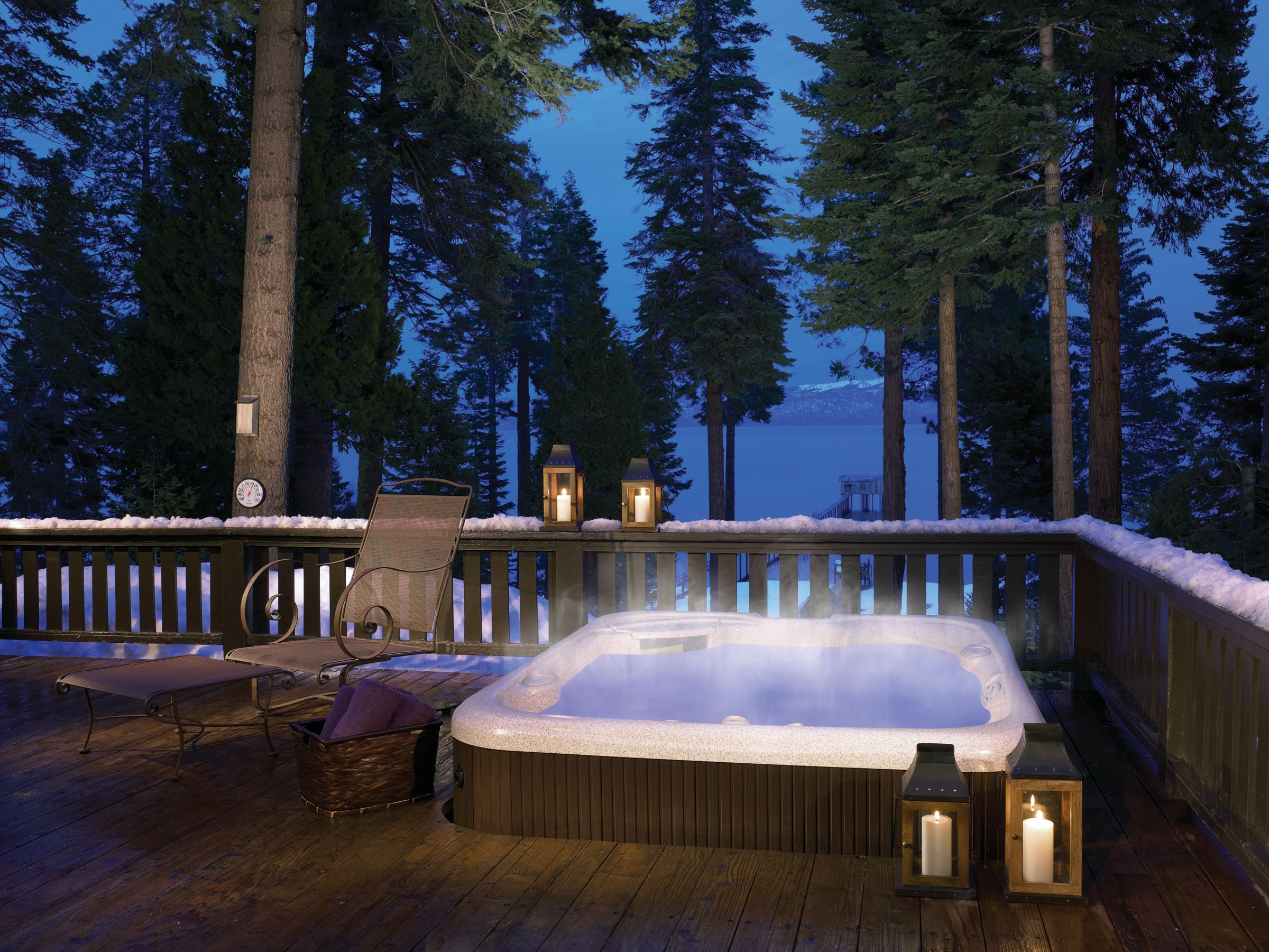 Create a winter wonderland with lanterns and this #HotSpringSpas ...