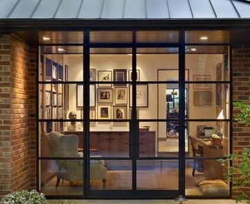 Pacific Heights Residence Contemporary Home Office San Francisco Hudson Street Design French Doors Acadian Style Homes Glass House