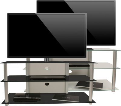 VCM TV-Rack Lowboard Konsole Fernsehtisch TV Möbel Bank Glastisch - wohnzimmer tv möbel