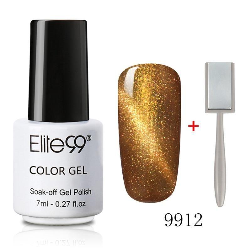 Elite99 Magnetic Cat Eye Gel Nagellack 7ml Katzenauge UV Nagellack Gel Lack mit 3D Effekt Magnet Stick   – Products