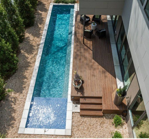 schmaler pool im garten – flipnation, Garten seite