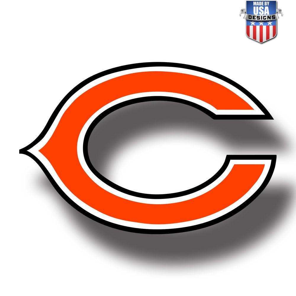 Chicago Bears Nfl Football Color Logo Sports Decal Sticker Free Shipping Chicago Bears Logo Chicago Bears Football Logo Chicago Bears Football