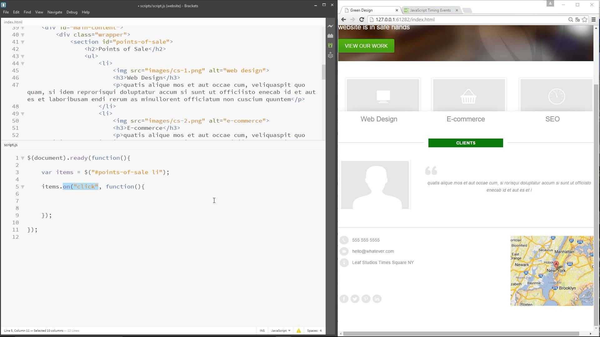 6dd64b5dd jQuery Tutorial for Beginners #24 - Sliding Animation Example | web ...