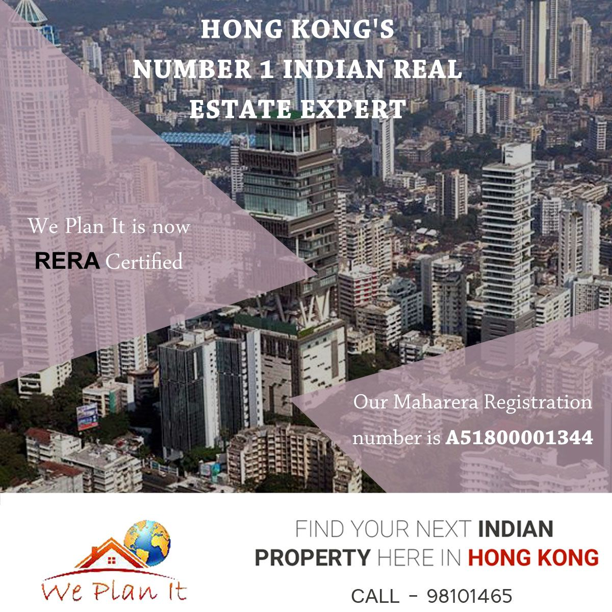HONG KONG'S NUMBER 1 INDIAN REAL ESTATE EXPERT. Meet Us