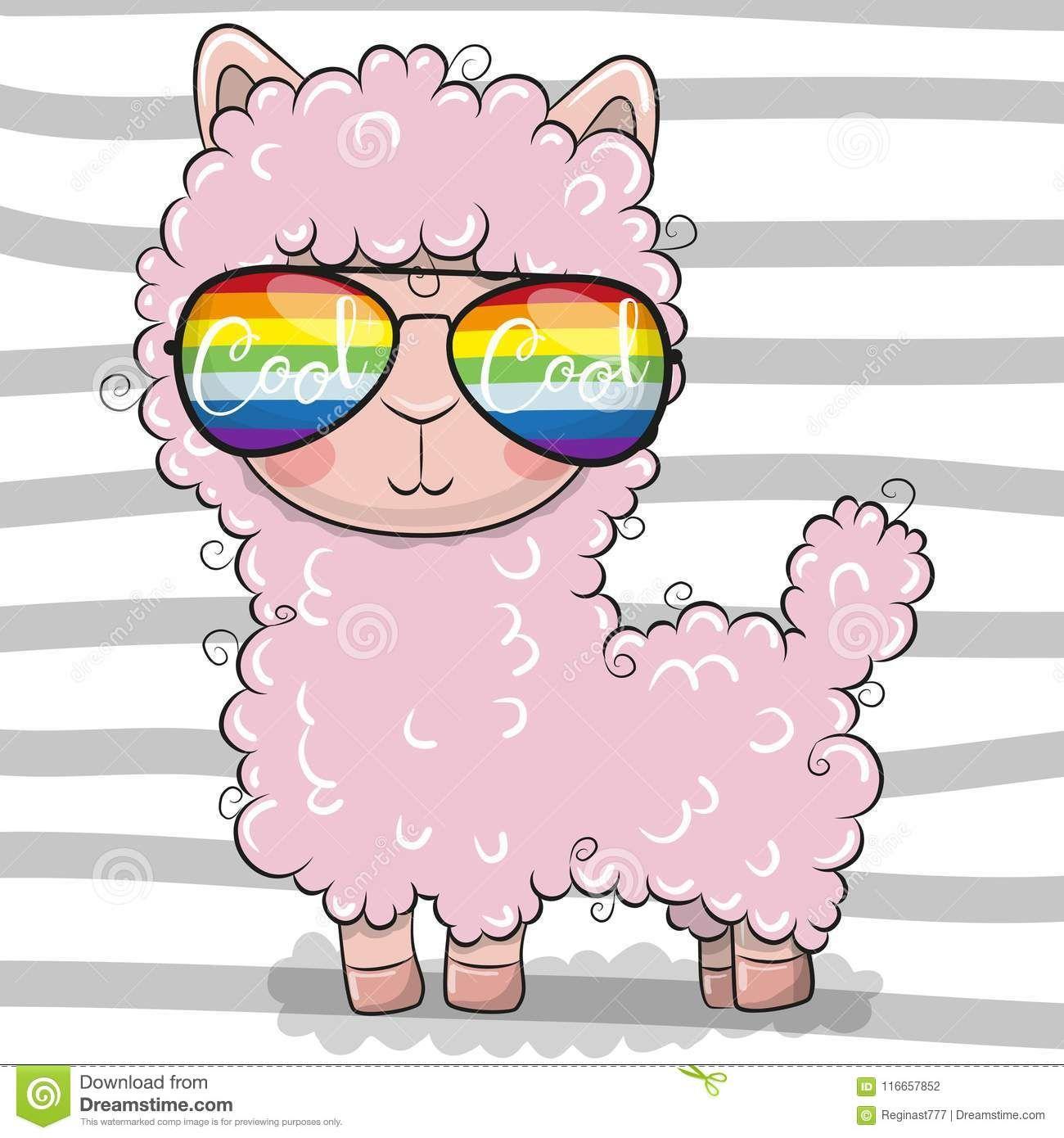 Cute Lama Cool Cartoons Cute Drawings Kids Cartoon Characters