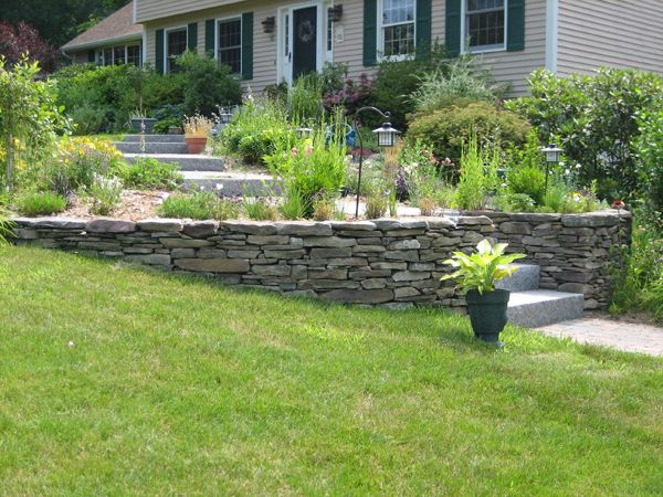 Pin By Kathy Foster On Retaining Wall Ideas Landscaping Retaining Walls Stone Walls Garden Landscaping Inspiration