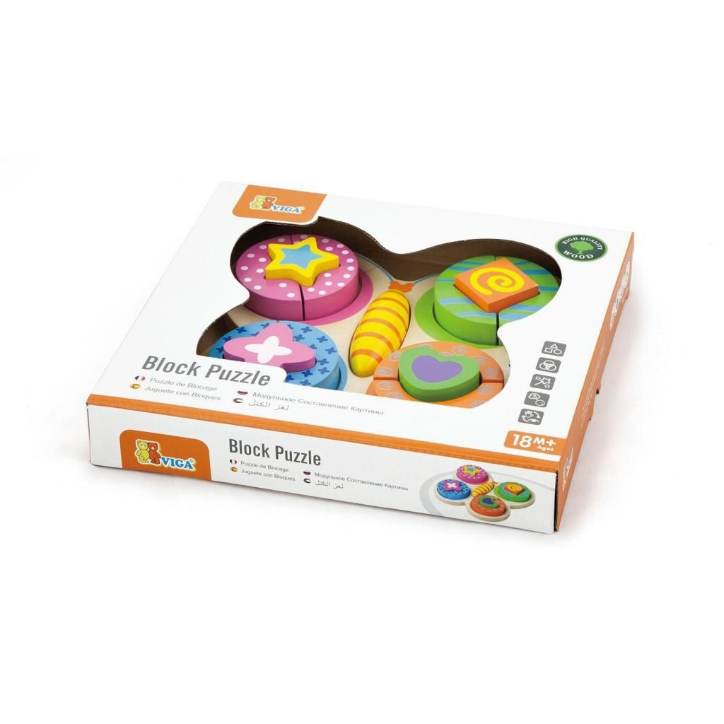 Colourful Wooden Butterfly Jigsaw
