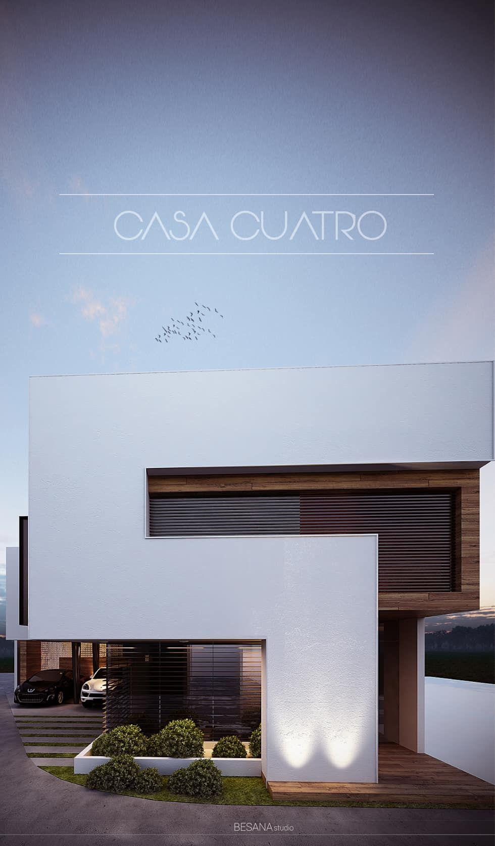 Casa 4 casas de estilo por besana studio caba a casa for Casa minimalista 4 5x15