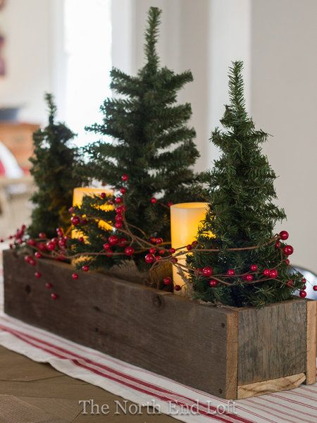 Christmas Tree Table Decor Holidays Farmhouse Christmas