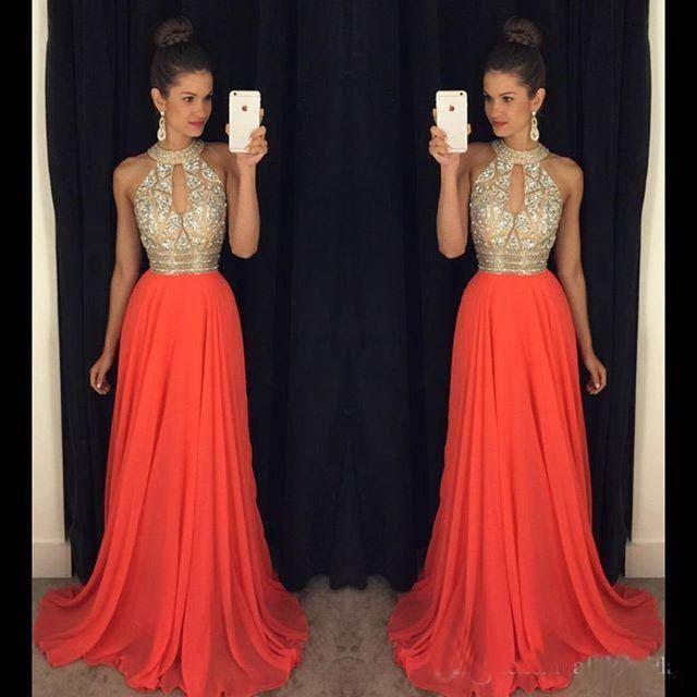 Großhandel Prom Kleider 2016 High Neck Abendkleider Billig ...