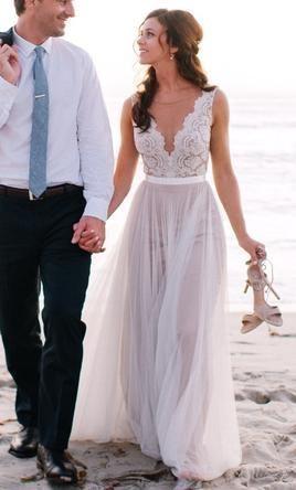 Vestidos de novia cortos para boda en playa