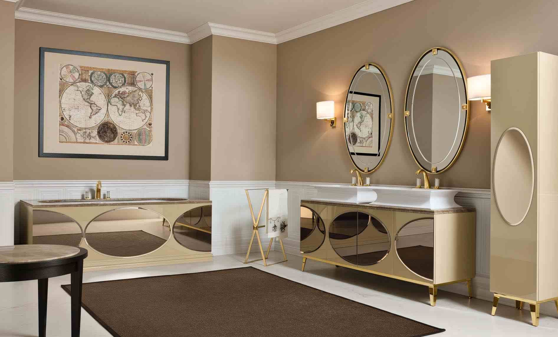 Meuble Salle De Bain Moderne Tapis Marron Fonce Peinture