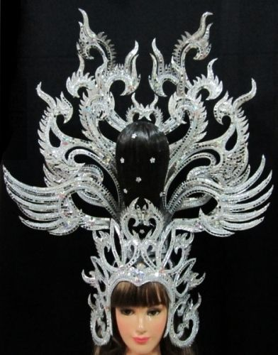 Da NeeNa H074 Star Queen Vegas Showgirl Pageant Dance Crystal Headdress