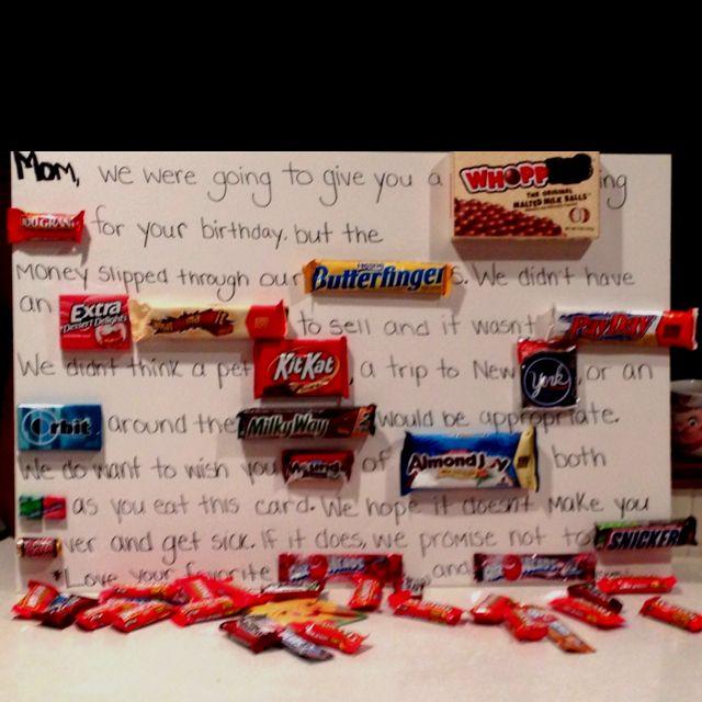 My Boyfriends Moms Birthday Card We Made This Year Diy Pinterest