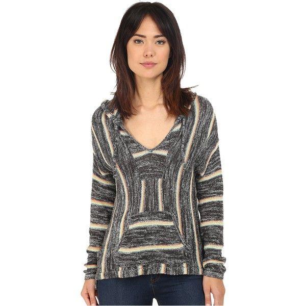 ca50730b66 Billabong Bonfire Beach Baja Sweater Women's Sweater ($46) ❤ liked on  Polyvore featuring tops, sweaters, black, beach tops, long sleeve pullover  sweater, ...