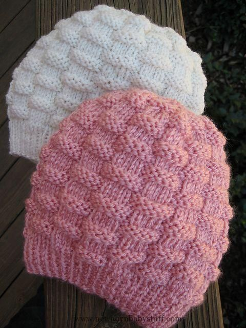 Baby Knitting Patterns Basket-Weave Baby Hat - easy but smart free ...