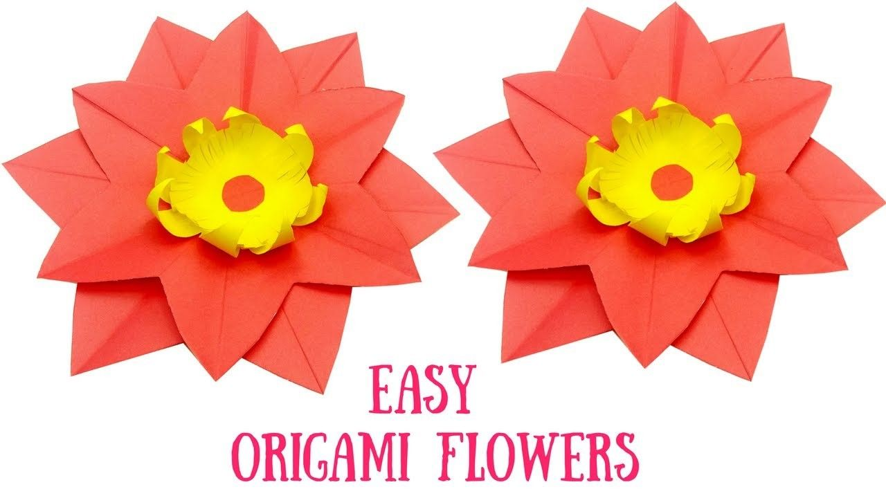 Origami Flower Very Easy And Simple Origami Tutorial Lets Make It