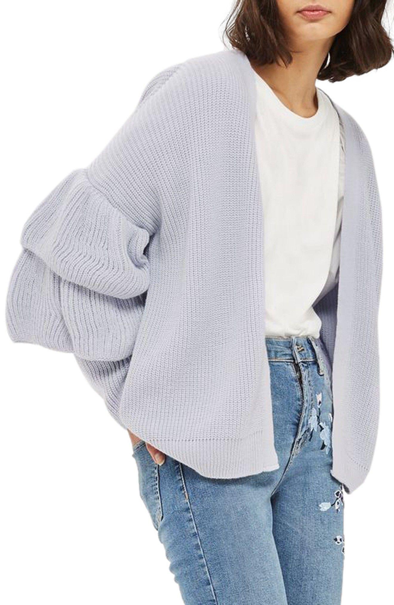 Layered Ruffle Sleeve Cardigan #wishlist #fall #sweater | Things ...